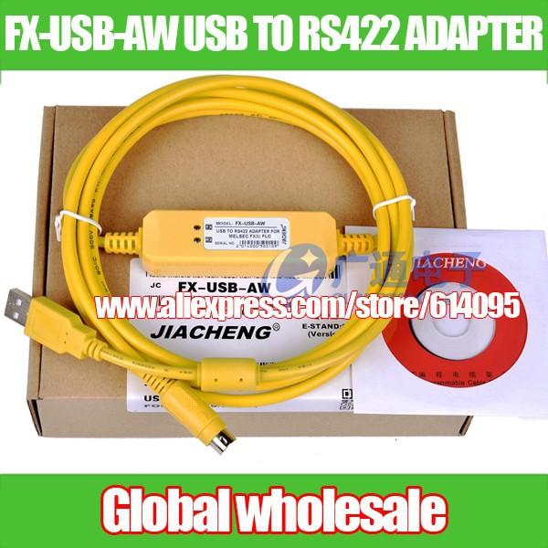 PLC Кабель для программирования Mitsubishi FX3U серии/загрузки данных кабель FX USB AW к RS422 1
