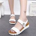 Thick soled sandals female summer 2017 new students a slip with flat sandals all match muffin