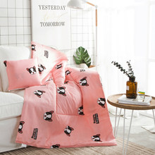 Papa&Mima Modern style Cushion Blanket Bulldog Print Cushion Pillow Sofa Bedding Throws(China)