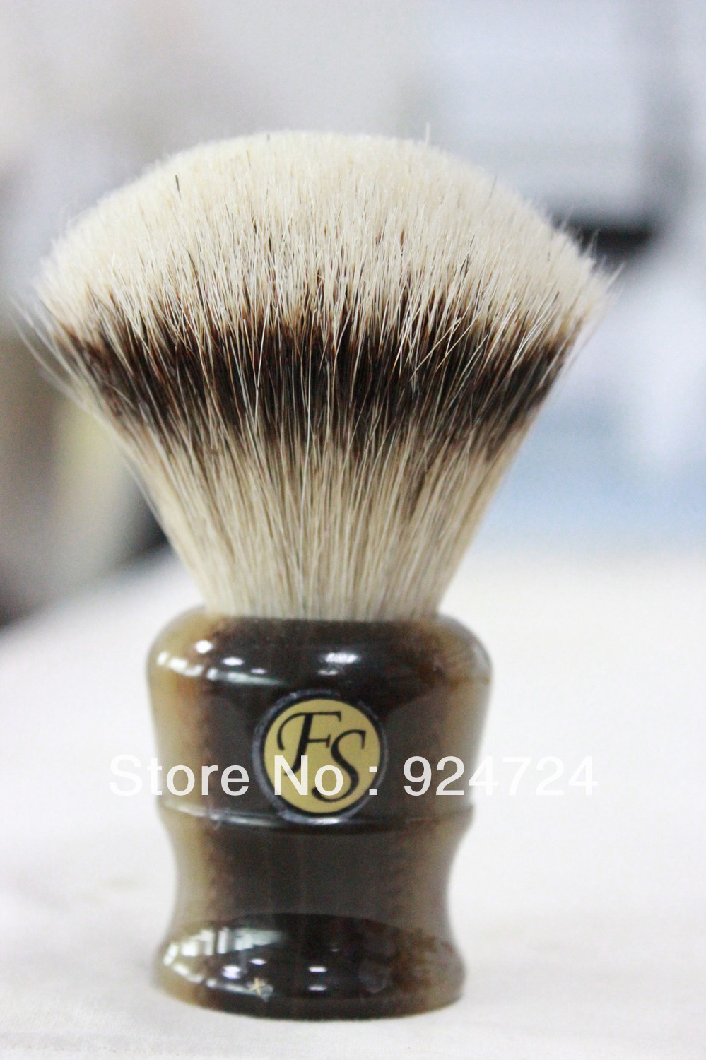 Frank Shaving Manchurian Silvertip Badger Brush,A15,knot 26mm+FREE STAND