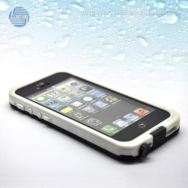 Factory direct sale hard cases TPU+Silicone+PVC cell phone water protection cases phone case for iphone5