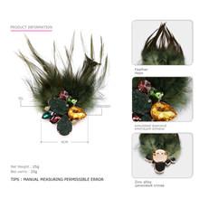EManco Donne di Modo di 3 Articoli Feather & Pietra Spille D'epoca Nostalgico Stile Multi-funzionale Spilla Gioielli di Stoffa Accessori(China)