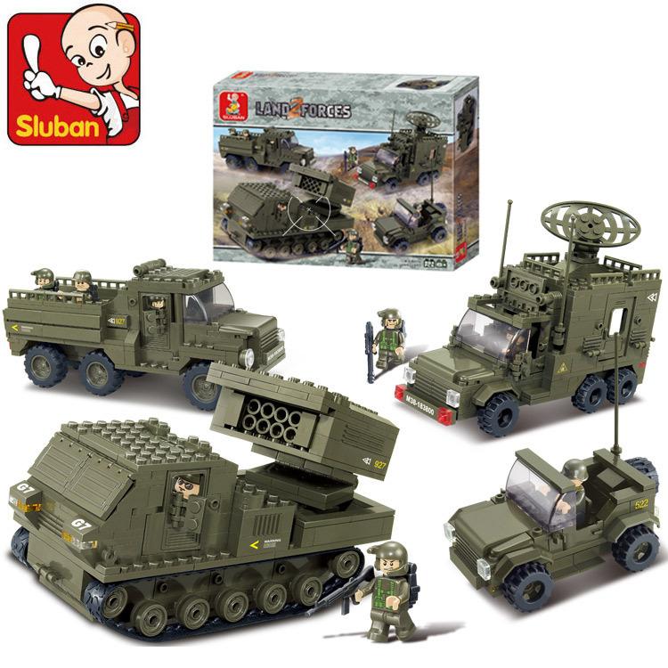 original Sluban Military Series toys Land Forces Building Blocks Sets 86 Army Brinquedos Compatible lego bricks - (Boutique Shopping Center store)