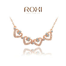 2014 ROXI brands  fashion  necklace/Chrismas gift s, Austrian crystal,fashion Environmental  women link heart Jewelry2030236660(China (Mainland))
