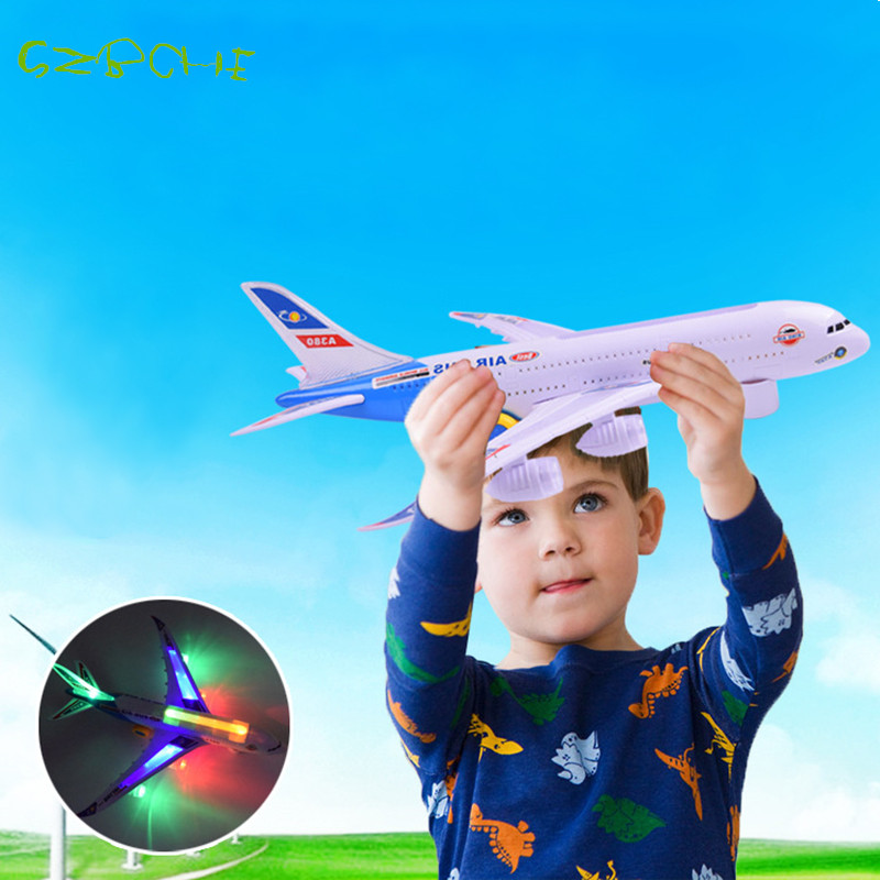 A380 Electric Universal Airliner Model Children Toys Airbus Large Passenger Aircraft With Music Light No Remote Boy Toy(China (Mainland))