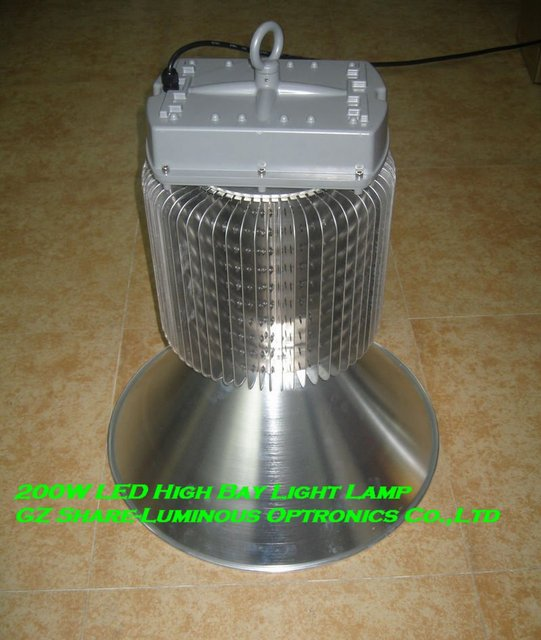 Professional! Cree 120lm/w 6500K Indoor 200W High Bay Light with Philips/Edison Leds+Fin Heatsink+18000lm+5 years Wty+IP67
