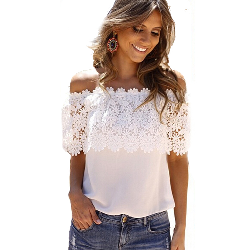 hot sale new 2016 lace shirt women off shoulder tops short. Black Bedroom Furniture Sets. Home Design Ideas