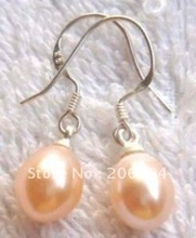 real Beautiful pink pearl earring(2pc)(China (Mainland))