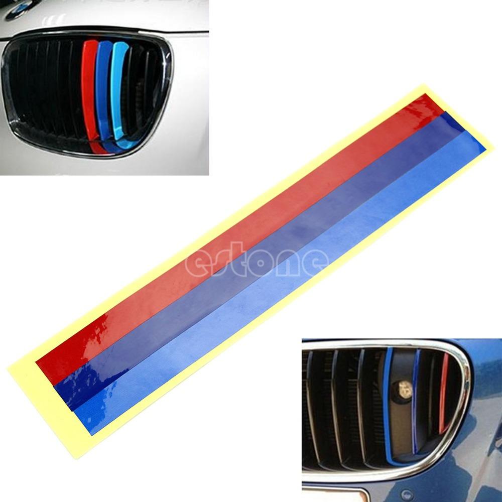 Grille 3Color Vinyl Strip Sticker Decal For BMW M3 M5 E36 E46 E60 E90 E92 NEW(China (Mainland))