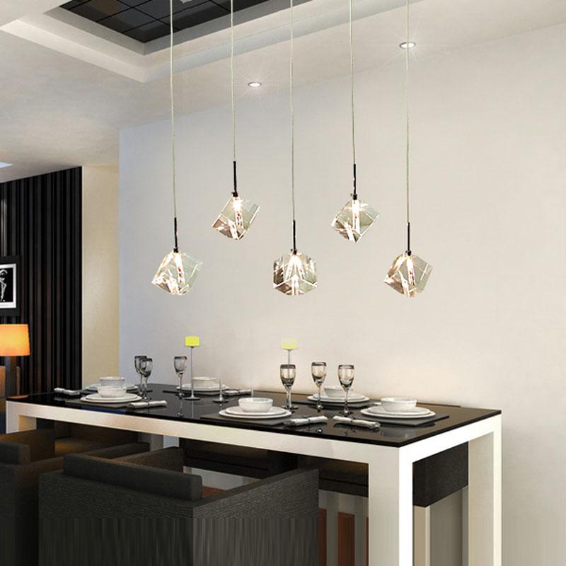t transparent crystal led dining room bar pendant light