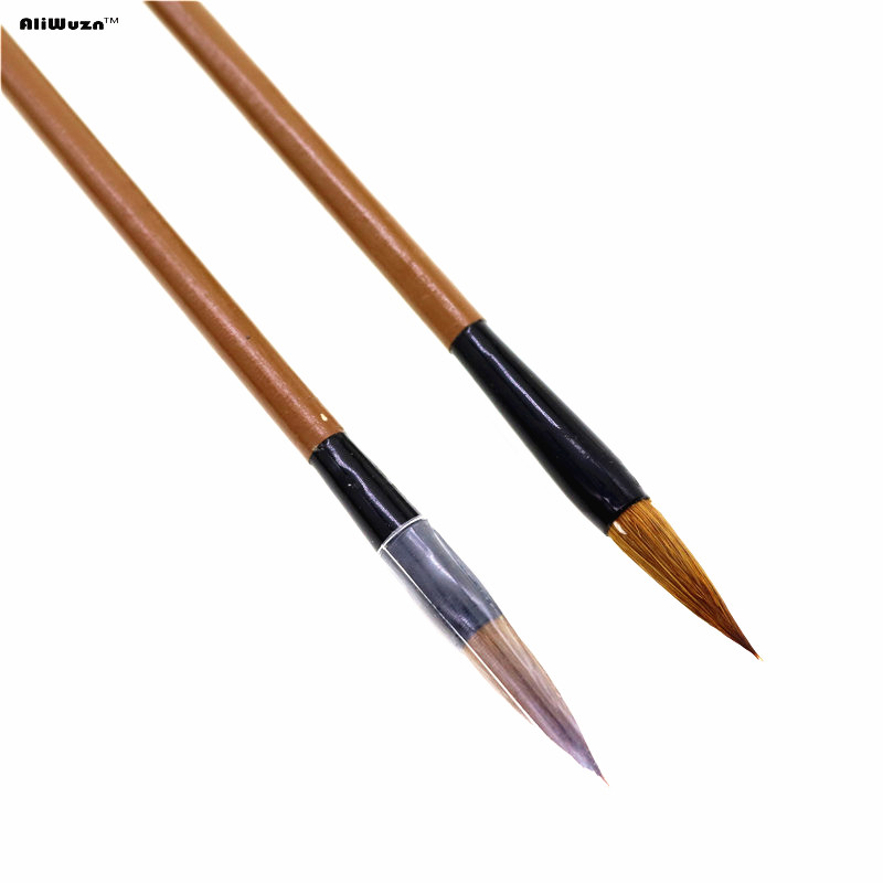 2pcs Top Quality Writing Brush Chinese Calligraphy Brushes Pen For Woolen And Weasel Hair Writing Brush For Student School