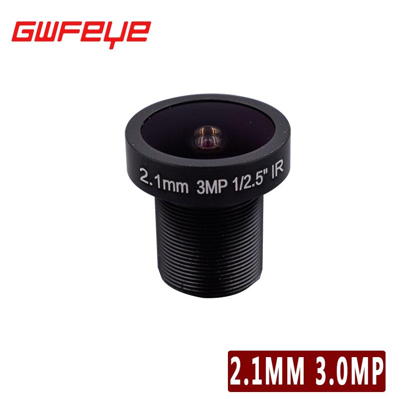 GWFEYE Metal M12 3.0MP Megapixel 2.1MM 1/2.5 CCTV Lens For HD IP Camera CCTV Cameras F2.0 Fixed Iris