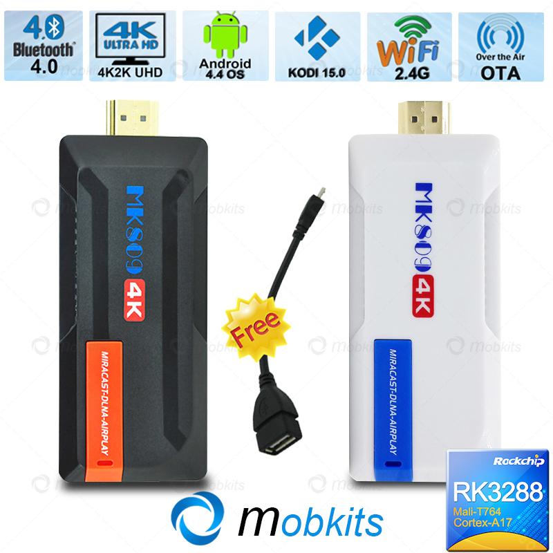 2015 RK3288 Android TV Stick MK809 4K Smart TV Box Hardware Decoding 4K TV Dongle XMBC KODI Pre-Installed A17 Android TV BOX