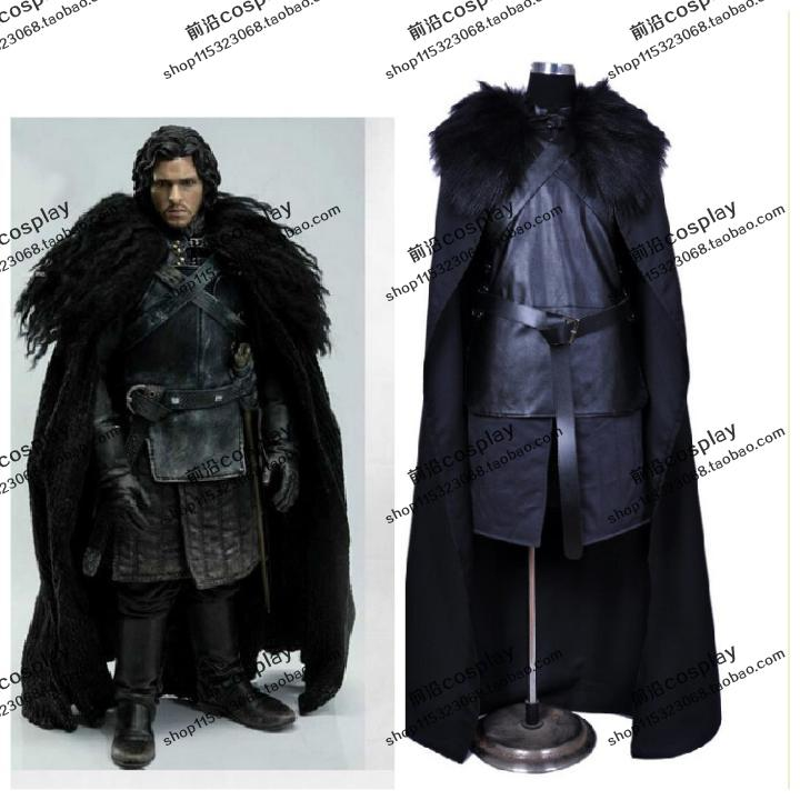2016 game of thrones costume jon snow costume outfit with. Black Bedroom Furniture Sets. Home Design Ideas