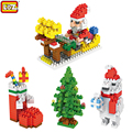 LOZ Christmas gifts Santa Claus Building Blocks Toys for Children Christmas Decorations for Home Birthday Christmas