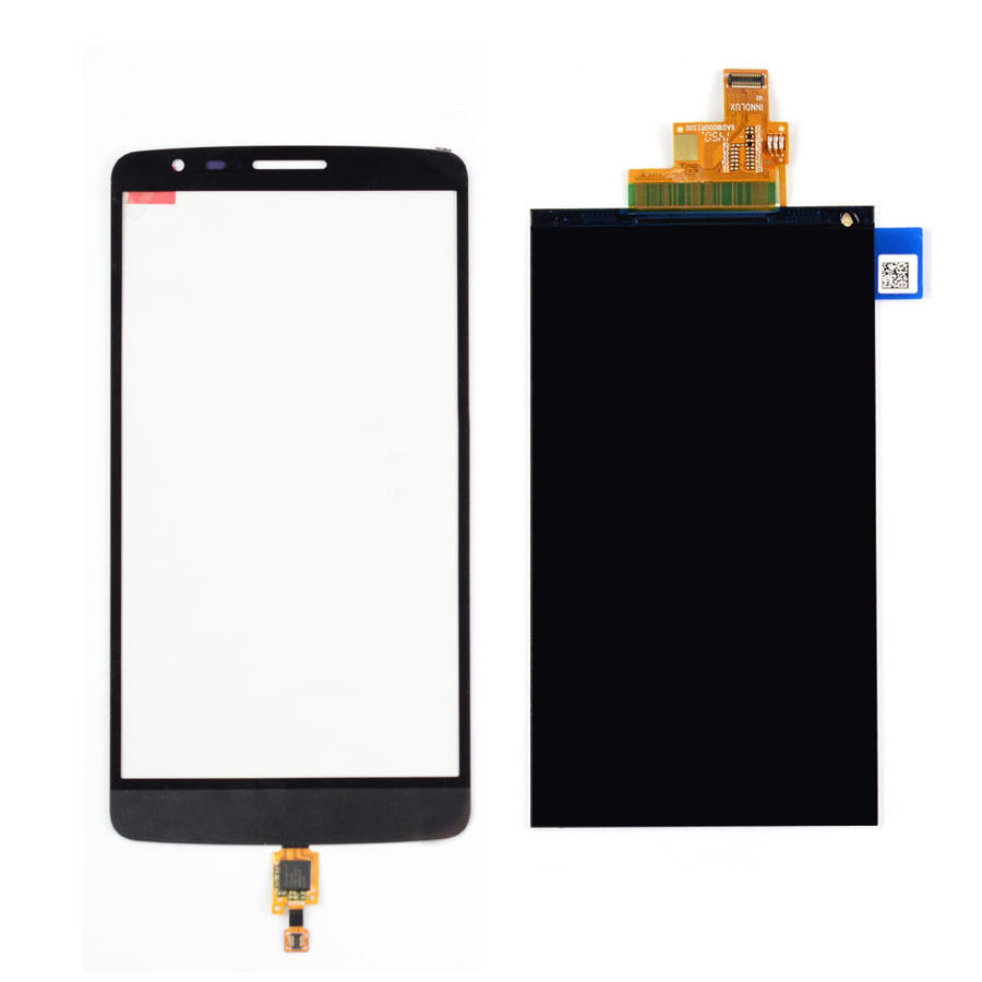 BLACK Touch Screen Digitizer Glass Sensor + LCD Display Panel Screen For LG G3 Stylus D690N D690 Free Shipping