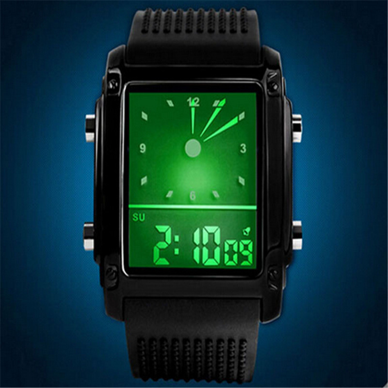 Hot Waterproof Digital Watch Quartz Watch Electronic Watch Military LED Watch Men Wristwatches Silicone WatchBand CC2339<br><br>Aliexpress