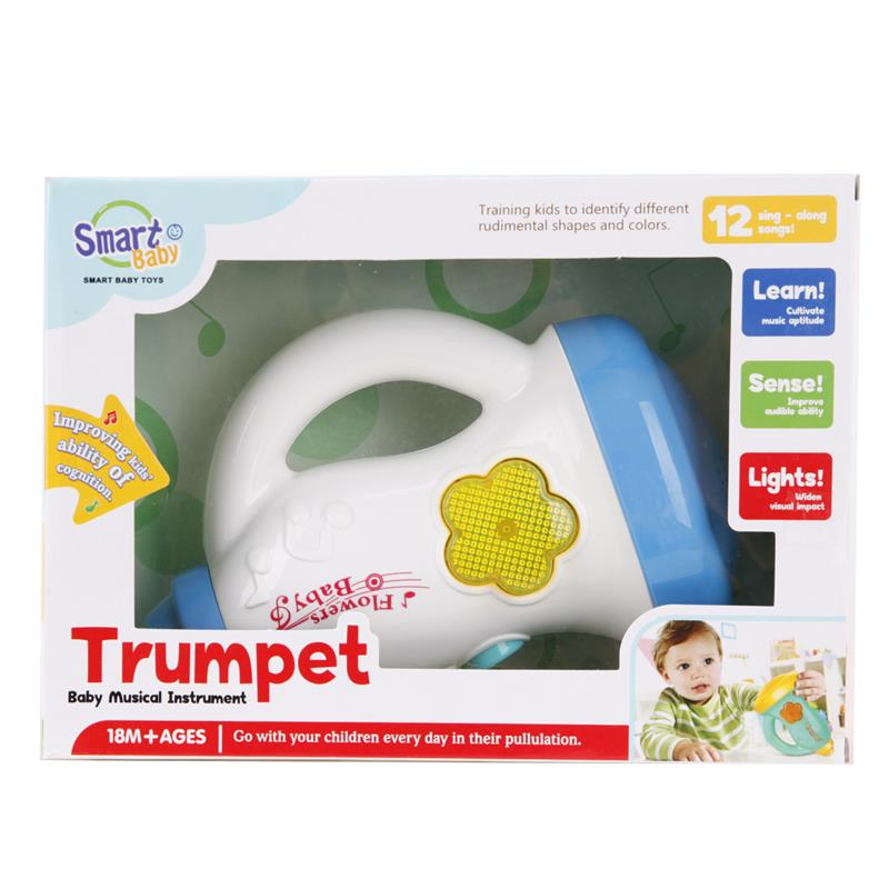 Kids Toys Music Trumpet Musical Instrument Educational Toys With Music Light Playing Learning Christmas Gifts For Babies