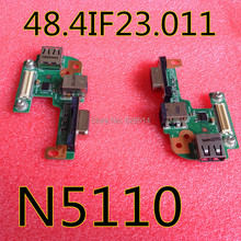 wholesale DC POWER CRT VGA JACK USB BOARD USB 2.0 For Dell Inspiron Laptop N5110 48.4IF05.011 Free Shipping(China (Mainland))