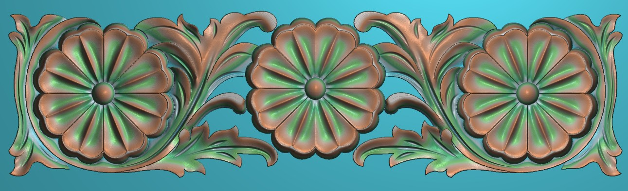 artcam 3d relief art stl bmp format Carved flower yanghwa fashion door 138 - CNC Models Store store