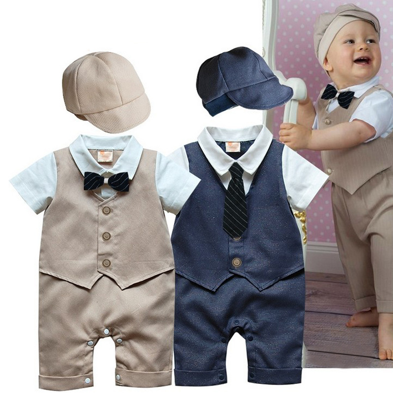 Designer newborn clothing Fomal Gentlemen baby boy onesie