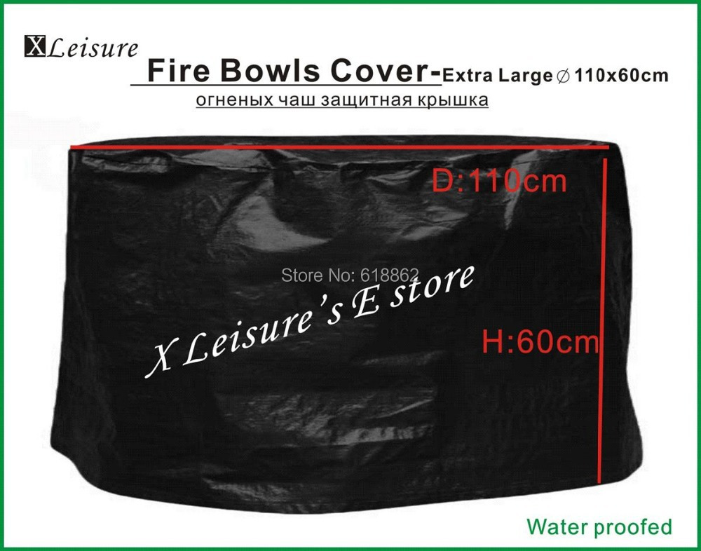 """Fire Pits Cover ,Extra Large size Protective cover for Fire Pits,Fire Bowls,Fire Baskets Cover --43.3""""/110X60CM Free shipping(China (Mainland))"""
