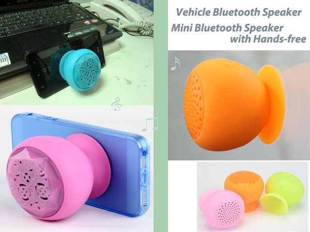 Wholesale 10pcs Lovely Design Vehicle Mini Silicone Bluetooth Speaker with Hands-free Portable Speaker