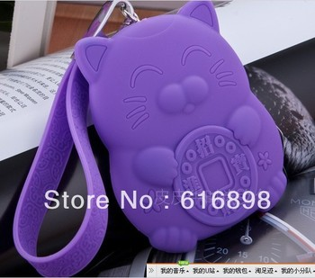 Factory Wholesale Free Shipping Rubber Silicone Cosmetic Makeup Bag Coin Purses Wallets Cellphone Case