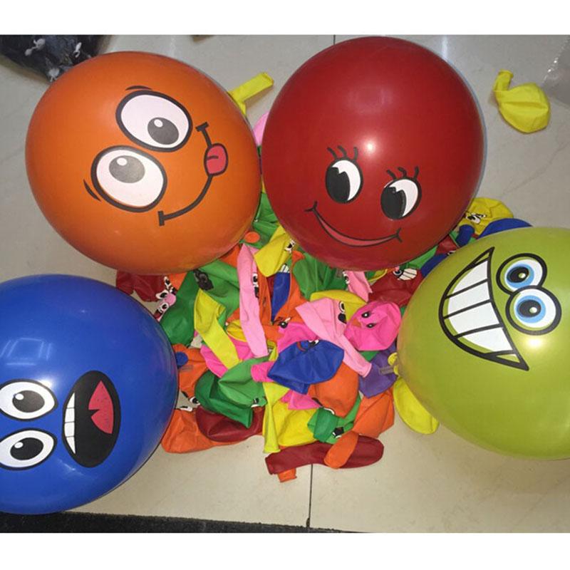 20pcs/lot Printed Big Eyes Smiley Air Balloon Happy Birthday Party Decoration Ballons Inflatable Latex Balls Kid Toys 476(China (Mainland))
