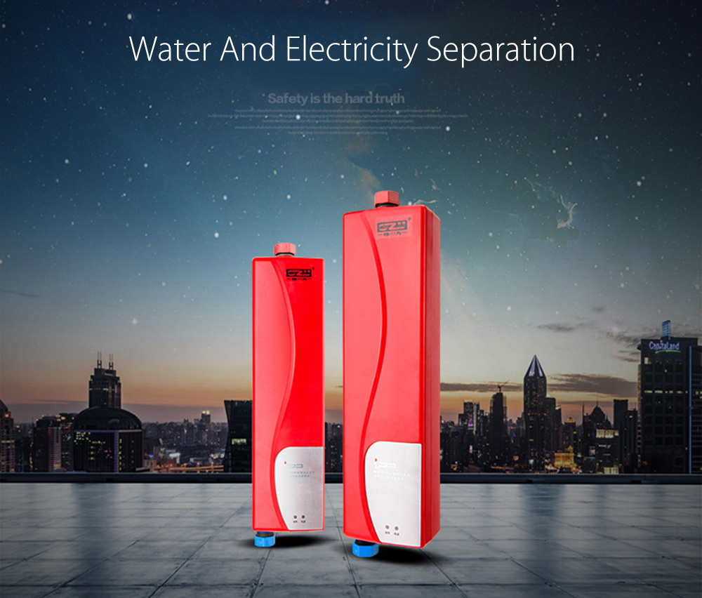 3000W Tankless Water Heater Indoor Mini Instant Electric Water Heater Patio Heater terras verwarming for Kitchen and Bathroom(China (Mainland))