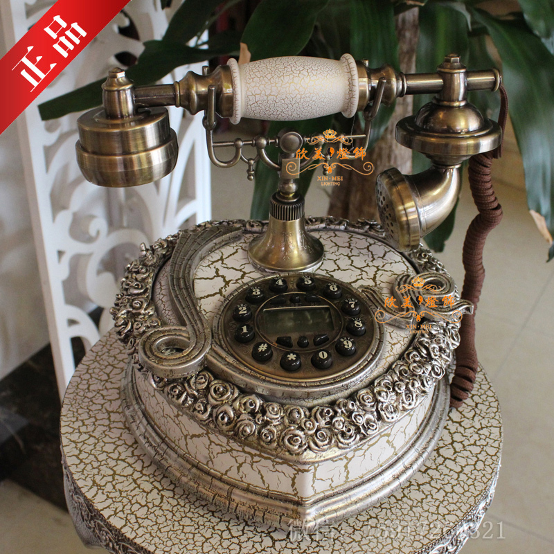 The new European office telephone landline telephone vintage retro antique telephone home ideas