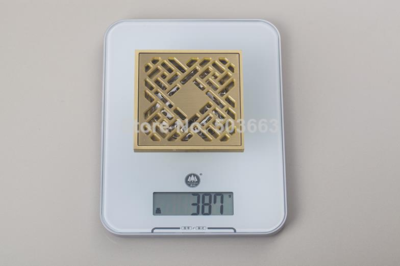 5404 Construction Real Estate Fashion Ross Brass Grate Floor Register Waste Drain 4 x 4 Flower