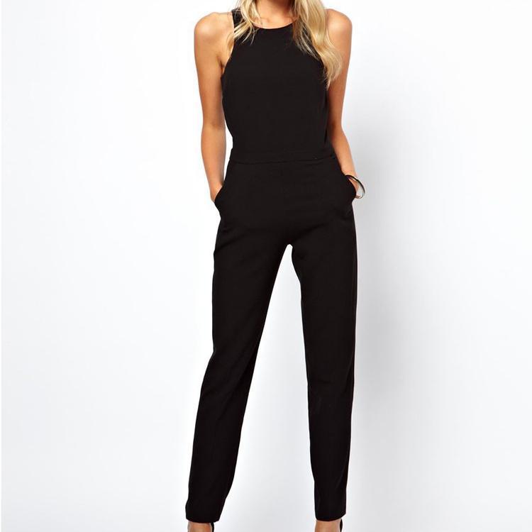 Original Summer Fashion Women Long Jumpsuit Sexy Slim Lace Stitching Jumpsuit
