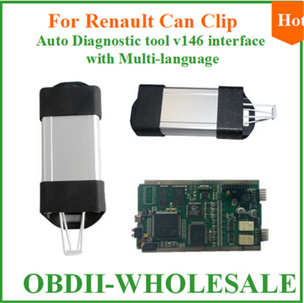 Latest Version 2016 Renault Can Clip V160 Auto Diagnostic Tool Multi-Languages Optional On Win XP High Performance shipping fast(China (Mainland))