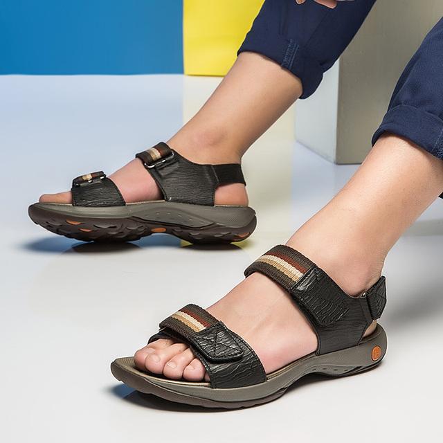Dekesen мода неподдельная корова кожаные сандалии человек летняя обувь соломы подошвой ...