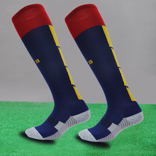 Sports Cotton Kids Socks Kids Soccer Socks Thick Knee High Long Football Socks for 7 to 12 Children Boys Years(China (Mainland))