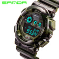 2016 New Brand SANDA Army Green Sports Watches Rubber Waterproof LED Digital Wrist Watch Clock For