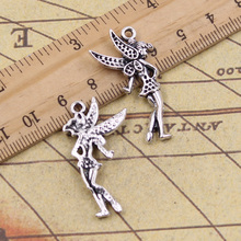 Buy 10pcs Charms angel girl 33*14mm Tibetan Silver Plated Pendants Antique Jewelry Making DIY Handmade Craft for $2.10 in AliExpress store