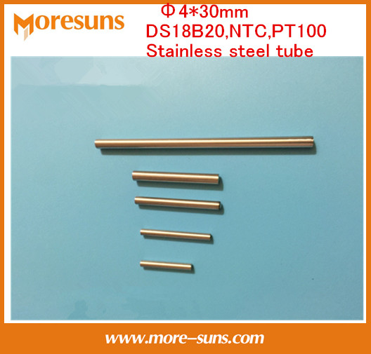 Fast Free ship 50pcs 4*30mm Single head stainless steel tube/Thermocouple,RTD,PT100,NTC,DS18B20 Stainless steel protecting tube(China (Mainland))