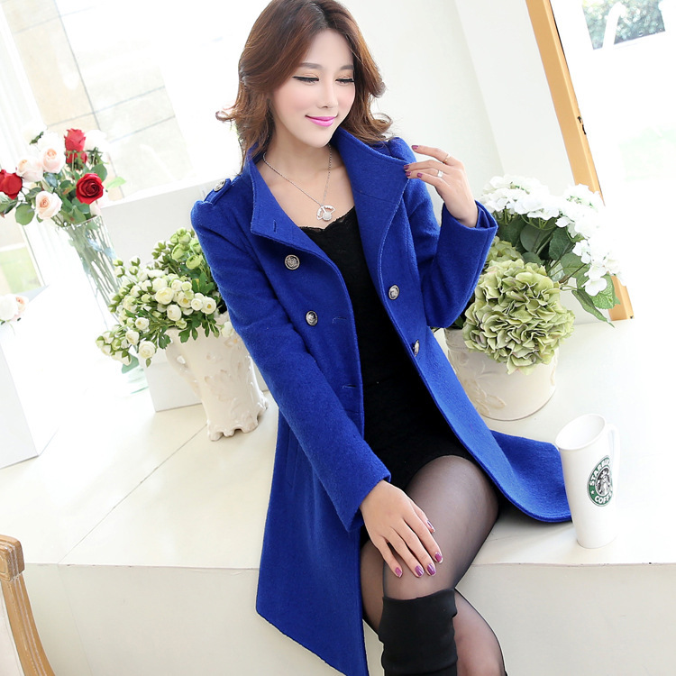 Free shipping Wholesale Slim woolen coat woolen coat jacket winter 2014 ladies new winter woolen coat and long sectionsОдежда и ак�е��уары<br><br><br>Aliexpress