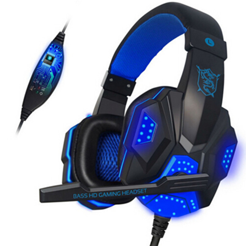 2016 PC780 Auriculares Casque audio PC Gaming Headset Headphone Mic Stereo Bass LED Light PS3 PS4 Gamer - Bluetooth headphones store