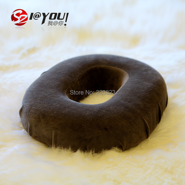 free shipping 1 pc 37x30x7cm 100% memory foam ring cushion health care cuhsion memory(Color Please leave a message)