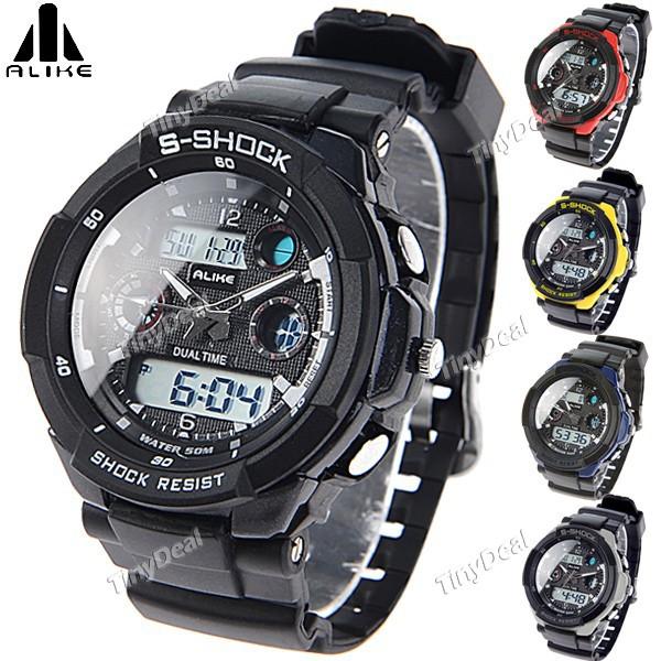(ALIKE) AK1170 50M Waterproof Men Digital Watch Quartz LCD Analog Watch Casual Sports Watch Wristwatch Timepiece Relogio(China (Mainland))