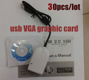 USB VGA Graphic Card connect LCD monitor, projector / Wireless PC To TV Converter, 30pcs/lot  free shipping