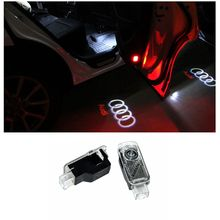 2PCS LED Laser Lamp Ghost Shadow Projector Welcome Warning Courtesy Logo Light for AUDI Audi A6 A1 A3 A4 C5 80 A7 Q3 Q5 Q7 TT(China (Mainland))