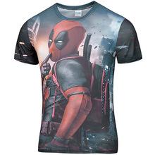 funny tee shirts Deadpool Comic Badass Deadpool T-Shirt Men Women Cartoon Characters 3d t shirt brand fitness camisetas tees