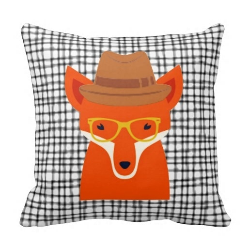Foreign Hipster Fox Hipsta Animal Cushion Pillow Case (Size: 20