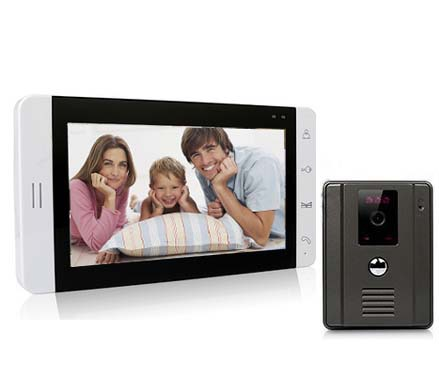"Top quality 7"" Touch Screen Wired Luxury Color Audio&video door phone, Doorbell,intercom system ,700TVL IR Camera(China (Mainland))"