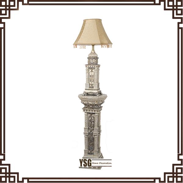 antique style resin floor lamp for bedroom floor standing