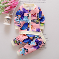 2016 Spring and Autumn The 2 3 4 Years Old Baby Girls Cloths Butterfly Spring Leisure